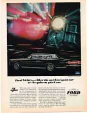 1965 Ford Galaxie 7-Litre Hardtop Automobile Car Vtg Print Ad