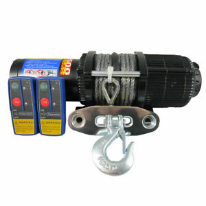 24V 5000lbs 5000lb Electric Winch Dyneema Rope Grey Quad Boat ATV Car 4500lbs
