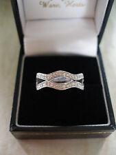 18 CARAT WHITE GOLD BRILLIANT CUT DIAMOND ETERNITY / WEDDING / DRESS RING BNIB