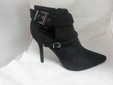 Black Suedette High Ankle Boots L-558 UK6 EU39 JS15 76
