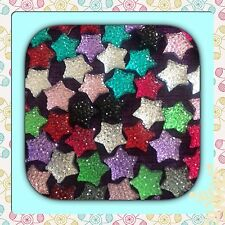 💖 🇬🇧Flatback  Resin x 20 Twinkling Rhinestone Cabochons Stars For Crafts