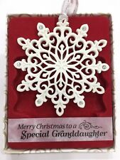Swarovski® Crystal Keepsake Christmas Tree Decoration Granddaughter Special Gift