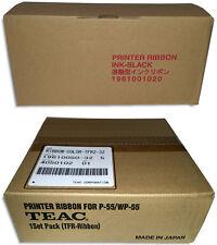 4-Pak =TRANSFER= Ribbon & 1-Piece =BLACK= Ribbon Combo Set for =TEAC P-55=