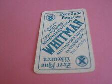 1 losse speelkaart / 1 single playing card / 1 carte  GENEVER WHITMAN , LIER