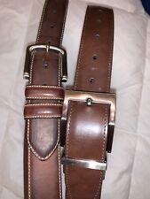 Two Mens Belts Brown (one Reversible) Swiss Gear