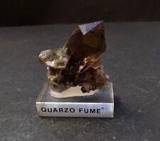 Precioso cuarzo ahumado biterminado del Mont Blanc Nice smoky quartz Mont Blanc
