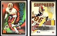 Leslie Shepherd Signed 1998 SkyBox Thunder #181 Card Washington Redskins Auto Au