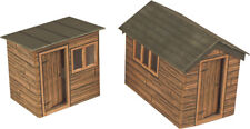 Garden Sheds - OO/HO Card kit – Metcalfe PO512 - Free Post - L1