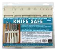 Camco Beige Block Safe Storage for 7 Knives Holder Wall Mount Rack Kitchen Dinin