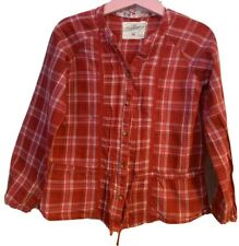 Girls Age 5-6 Years - H&M Checked  Long Sleeved Shirt Top