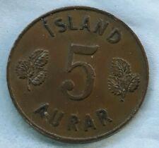 5 Aurar 1963 Iceland