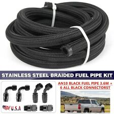 Braided 10an An10 Gasoilfuel Hose Line With Hose End Fitting Separator Kit Set