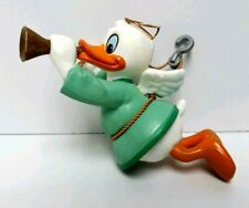 Vintage 1987 Walt Disney Co. Grolier DONALD DUCK Angel Horn Christmas Ornament