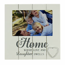 White Wooden Vintage Style Home Photo Frame With Sentiments FW1047