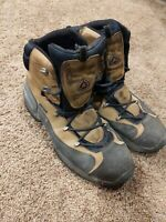 ECCO Receptor Mens Brown Leather Goretex Waterproof Hiking Boots Size 13.5