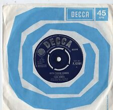 """Tom Jones - With These Hands 7"""" Single 1965"""