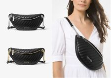 👜NWT MICHAEL KORS PEYTON LARGE QUILTED  BELT FANNY PACK WAIST BAG BLACK