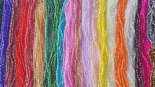 JOBLOT 24 Cuerdas (1728 granos) 8 mm cuentas de cristal de 24 colores mezclados al por mayor B2