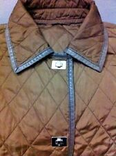 BOGNER Ladies jacket Green/Brown QUILTED & Leather trim Size 14 UK RRP £750