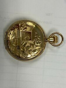 solid gold Illinois pocket  watch