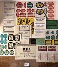 Old Rare Tool Labels, Original Proofs, Unbelievable!