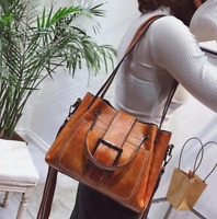 Women Shoulder Bags Vintage Handbag Tote Leather Boho Crossbody Purse Satchel