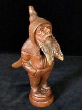 BEARDED MANWooden Nutcracker- Figural Hand Carved, Charming Rare Antique c.1880