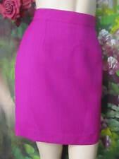 Christian LACROIX Paris DESIGNER short PENCIL skirt FUCHSIA wool NWT SAKS $160 S