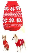 Dog Sweater Red Snow XXS XS S M L Pet Coat Puppy Clothes Jacket Jumper Chihuahua