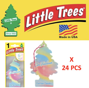 LITTLE TREES Cotton Candy Air Freshener Tree 10282 1UP-10282 MADE IN USA 24 pcs