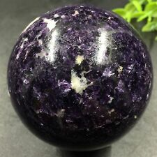 MAGIC-366g 60mm Natural Sodalite Sphere&Stand Healing Reiki H9497