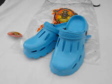 BNWT Older Boys Sz 2 - 3 or Girls Sz 4 - 5 Aqua Blue Shakagear Clogs Beach Shoes