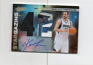 2010-11 Kevin Love Absolute #26 STAR GAZING AUTO JUMBO 4CLR PATCH #D 1/5 (F22)