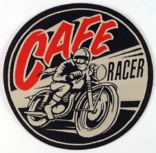 Cafe Racer, Woven Iron on Patch, Ton up boys, rockers, Vintage Motorcycles