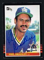 Phil Bradley #631 signed autograph auto 1985 Donruss Baseball Trading Card