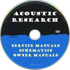 Acoustic Research Service Manuals & Schematics- PDFs on DVD - Huge Collection