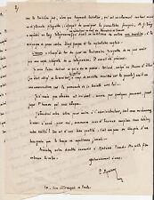 Sur l.oeuvre de Gustave Téry. Lettre anecdotique signée P. Myrriam. 1923.