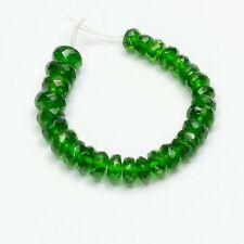 """4.3mm-6mm Siberian Chrome Diopside Faceted Rondelle Bead 3"""" Strand"""
