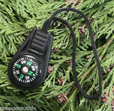 MINI ZIPPER/PULL LIQUID FILLED BUTTON COMPASS - BUSHCRAFT HIKING CAMPING SCOUTS
