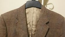 Allyn St. George 2BTN Men's Gold Plaids Sport Coat Blazer Jacket Size 40R
