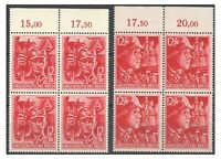 German 3rd Reigh 1945 12th Anniv. Assumption of Power Block 4 Stamps Final Issue