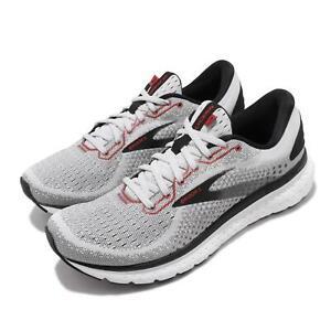 Brooks Glycerin 18 Grey Black Red White Men Road Running Shoes 110329-1D-094
