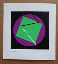 Helen Gilbert 1984 ORIGINAL LITHOGRAPH PRINT ABSTRACT BLACK GREEN PURPLE