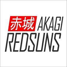 Akagi Red Suns Bumper Window Vinyl Decal Sticker Initial D RX7 FD FC Drift JDM
