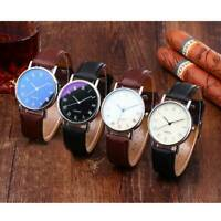 Chic Men's Wrist Watch Business Quartz Analog Leather Strap Casual Watches Gift