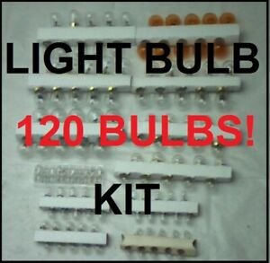 120 assorted 12 volt light bulbs 1960-70s Ford Muscle cars Mustang Cougar Torino