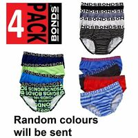 100% BONDS 4 PACK BOYS BABY UNDERWEAR PAIRS BLACK BLUE RED GREEN SIZE 2 - 16