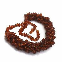 Natural baltic amber necklace cognac 46 gr