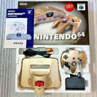 Nintendo 64 Gold Model Console System Limited Retro Video Game
