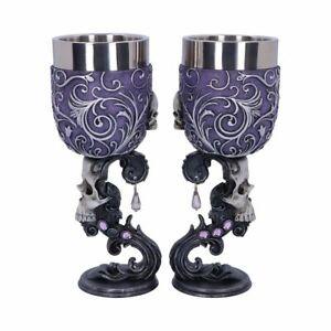 Nemesis Now Skull Goblet Set Of 2 Deaths Desire Brand New Gothic